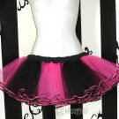 Pink Black Striped Ballet Adult TuTu Tulle Skirt Faerie small
