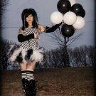 Black White Cyber Retro Goth Trashy Ballet Adult TuTu Small