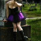 Purple Black Striped Ballet TuTu Cyber Faerie Medium