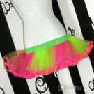 Hot Pink Neon Green Faerie Princess Adult TuTu Skirt Medium
