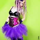 Royal Purple Cyber Goth Faerie Adult Tulle Tutu Skirt Large