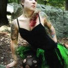 NEON Lime Green Black Trashy Ballet Adult TuTu Cyber Punk Small