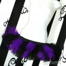 Purple Black Striped Cyber Goth 80's TuTu Micro medium