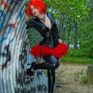 Red Punk Micro Mini Tulle Adult TuTu Cyber Goth Skirt small