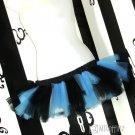 Baby Blue Black Striped Cyber Goth 80's Adult TuTu Micro Small