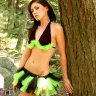 Neon Green Black Striped Micro Mini Adult TuTu Tulle Skirt Cyber Small