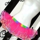 Micro Mini Adult TuTu Hot Pink Rainbow Neon 80's Cyber Medium