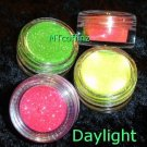 Neon Day-Glo Glitter Sample 4 pots UV Candy Raver   ---FREE Shipping