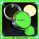 UV Toxic Lime Loose Glitter Makeup Cyber Rave 5 Gram