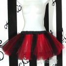 Red Black Striped Cyber Gothic Ballerina Adult Tulle TuTu large
