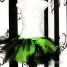 NEON Lime Green Black Trashy Ballet Adult TuTu Cyber Punk Medium