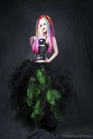 Neon Green Formal Gothic Wedding Tulle Skirt Adult large / plus
