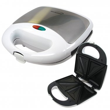 Brentwood Stainless Steel Sandwhich Maker White Color Non Stick cooking Surface