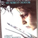 EDWARD SCISSORHANDS Original 2 SIDED Poster JOHNNY DEPP