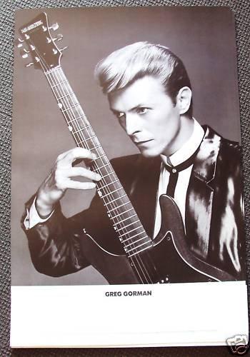 DAVID BOWIE Promo HOLLYWOOD Concert GREG GORMAN  Poster