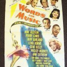 WORDS and MUSIC Original POSTER Lena Horne JUDY GARLAND
