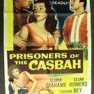 PRISONERS OF THE CASBAH Autograph POSTER Turhan Bey '53