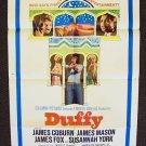 DUFFY  1-Sheet POSTER Susannah York  JAMES COBURN Mason