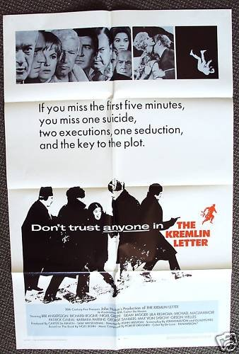 JOHN HUSTON The KREMLIN LETTER Original 1-Sheet  POSTER