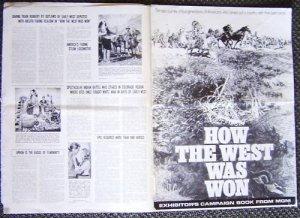 HOW THE WEST WAS WON Original PRESSBOOK  Carroll Baker