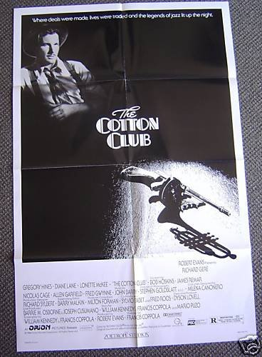 COTTON CLUB  Francis Ford Coppola RICHARD GERE  Poster