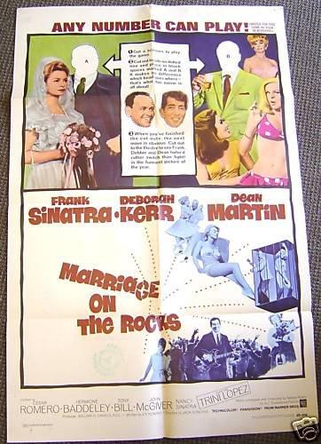 MARRIAGE ON THE ROCKS Poster DEBORAH KERR Frank Sinatra