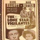 LONE STAR VIGILANTES   Poster  TEX RITTER  BILL ELLIOTT
