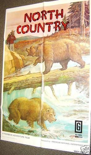 NORTH COUNTRY Original  Nature FILM POSTER Bear Bears