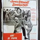SANDRA DEE Fch TAKE HER SHE'S MINE Poster JAMES STEWART