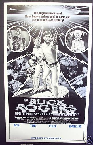 BUCK ROGERS in 25th Century  COLLEGE  Poster GIL GERARD