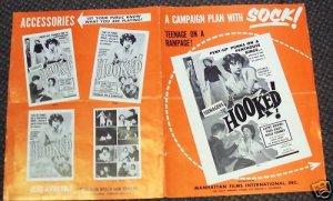 TEENAGERS HOOKED Pressbook TEENAGE TRASH Bad GIRLS 1957
