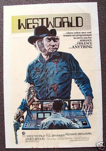 WESTWORLD 1-Sheet POSTER James Brolin YUL BRYNNER Robot