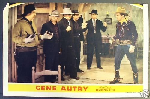 GENE AUTRY  Smiley Burnette ORIGINAL Lobby Card WESTERN