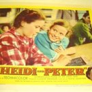 HEIDI und PETER Original LOBBY CARD and 1955 Swiss Alps