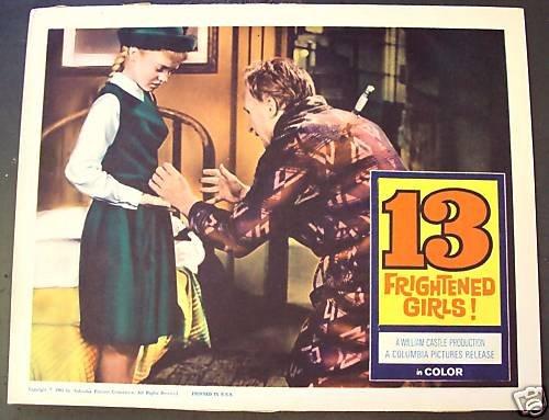 WILLIAM CASTLE Lobby Card 13 FRIGHTENED GIRLS! Thirteen