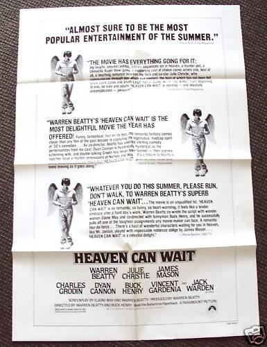 WARREN BEATTY Original HEAVEN CAN WAIT Critic POSTER 78