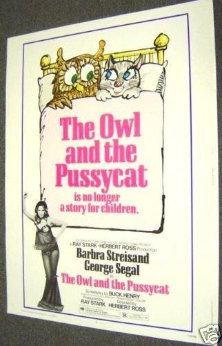 BARBRA STREISAND The OWL AND PUSSYCAT Drive-In  POSTER
