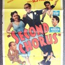 SECOND CHORUS Poster PAULETTE GODDARD Fred Astaire 1940