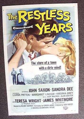 SANDRA DEE The RESTLESS YEARS John Saxon 1-Sheet POSTER