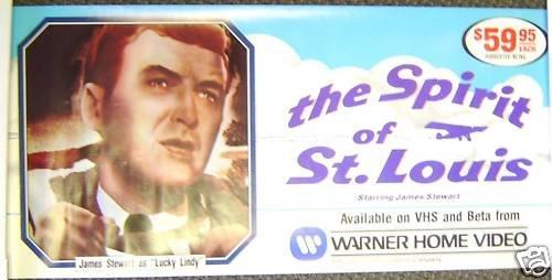 JAMES STEWART The SPIRIT OF ST. LOUIS  Poster AIRPLANE