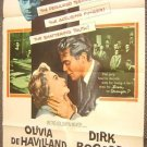 OLIVIA De HAVILLAND Original POSTER Dirk Bogarde  LIBEL