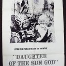 DAUGHTER OF THE SUN GOD 1-Sheet POSTER Lisa Montell '62