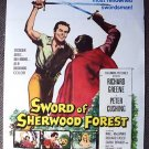 SWORD OF SHERWOOD FOREST Hammer POSTER Peter Cushing 60