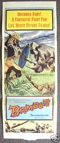 BAMBUTI Insert  Poster RHINOCEROS African Tribe AFRICA