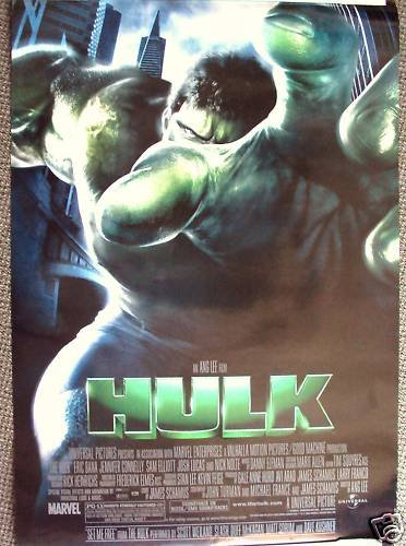 HULK Double Sided POSTER Eric Bana INCREDIBLE Marvel