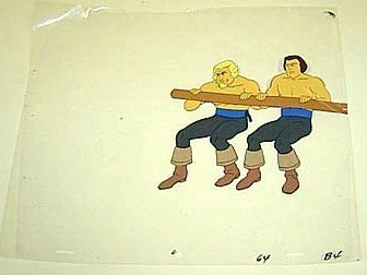 THREE MUSKETEERS Hanna-Barbera ANIMA CELL Banana Splits