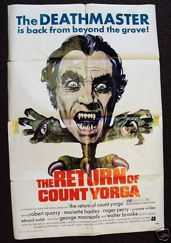 RETURN OF COUNT YORGA Horror 1-Sheet POSTER Hammer Art