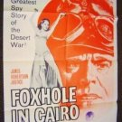 FOXHOLE IN CAIRO War POSTER James Robertson Justice '60