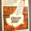 VIOLENT ROAD  Original POSTER Merry Anders  BRIAN KEITH
