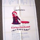 BARBRA STREISAND Original FOR PETE'S SAKE  Movie POSTER